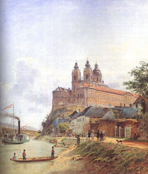 Jakob Alt The Monastery of Melk on the Danube oil painting image