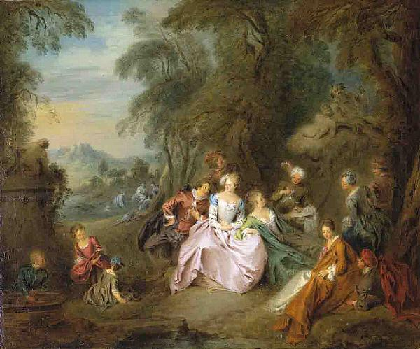 Jean-Baptiste Pater Repose in a Park oil painting image