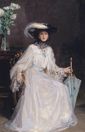 Sir John Lavery Evelyn Farquhar, wife of Captain Francis Douglas Farquhar daughter of the John Hely-Hutchinson, 5th Earl of Donoughmore oil painting image
