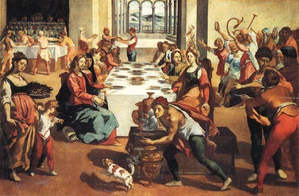 Andrea Boscoli The Marriage at Cana oil painting image