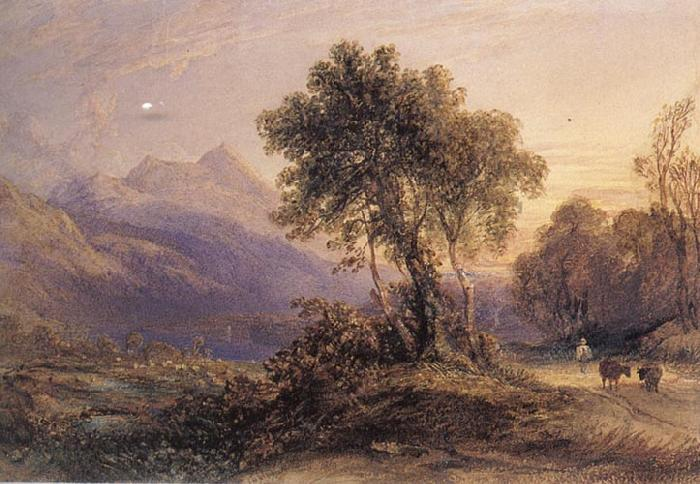 Anthony Vandyck Copley Fielding Ben Lomond oil painting image