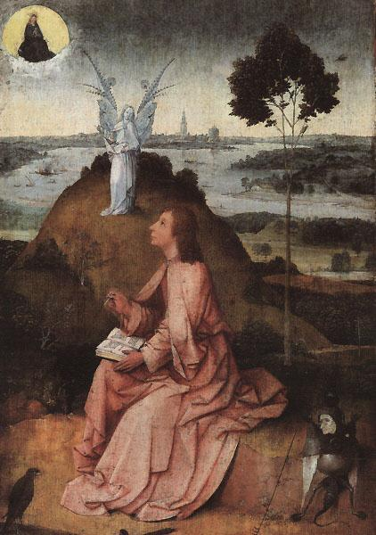 BOSCH, Hieronymus St. John on Patmos oil painting image