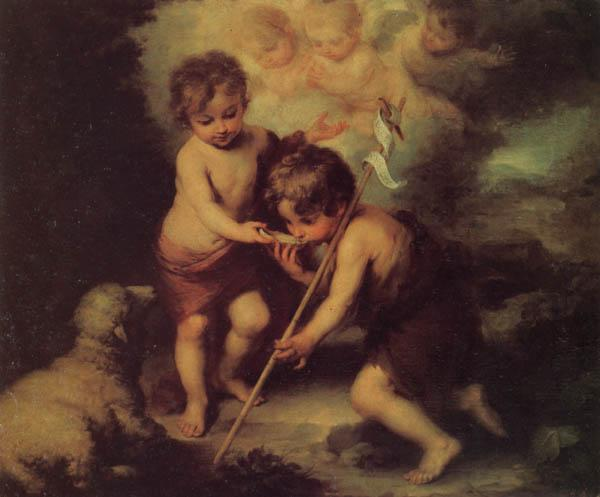 Bartolome Esteban Murillo Children with a Shell oil painting image