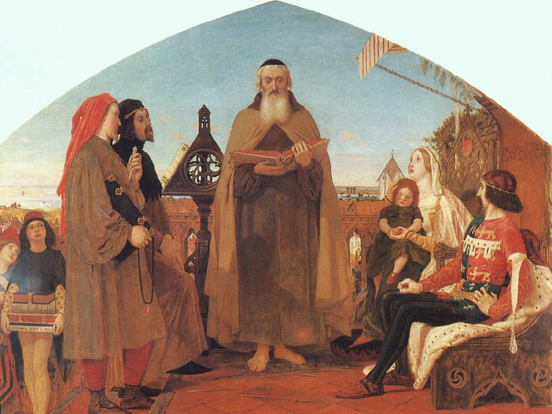 Brown, Ford Madox Wycliffe Reading his Translation of the New Testament to his Protector- John of Gaunt oil painting image