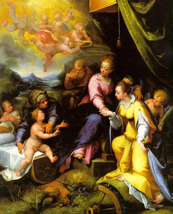 Calvaert, Denys The Mystic Marriage of St. Catherine oil painting image