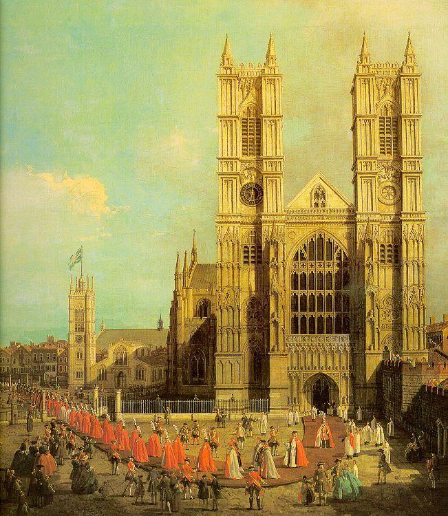 Canaletto London- Westminster Abbey with a Procession of the Knights of the Bath oil painting image