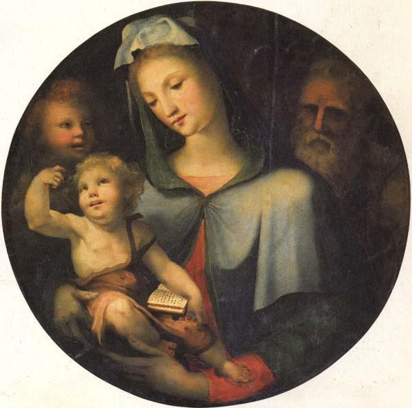 Domenico Beccafumi The Holy Family with the Young St.John oil painting image