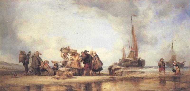 Edward William Cooke Scheveningen Beach oil painting image