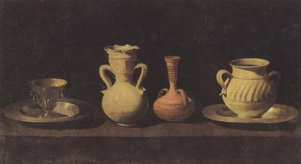 Francisco de Zurbaran Still Life with Pottery oil painting picture