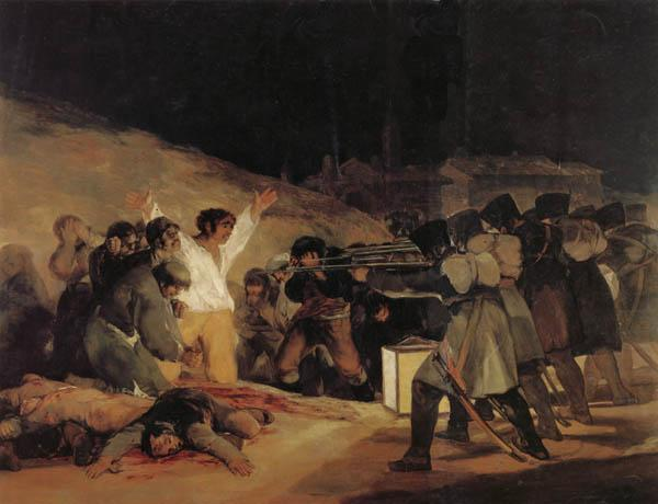 Francisco de goya y Lucientes The Executios of May3,1808,1804 oil painting image