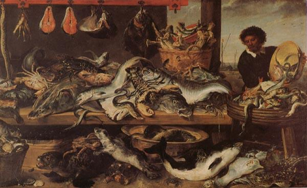 Frans Snyders Fish Stall oil painting image