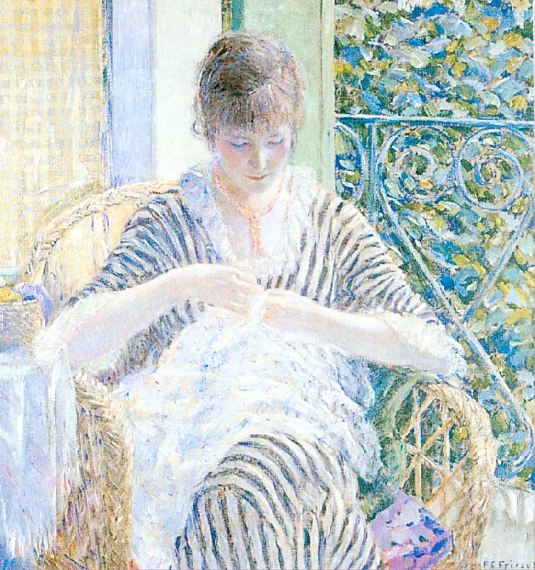 Frieseke, Frederick Carl On the Balcony Germany oil painting art