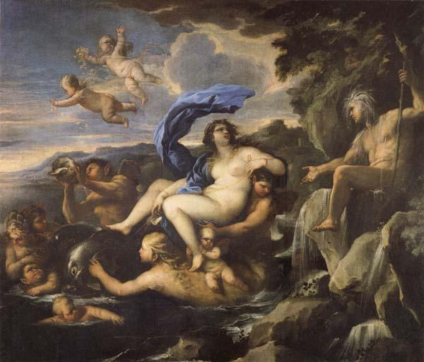 Luca Giordano he Triumph of Galatea,with Acis Transformed into a Spring oil painting picture