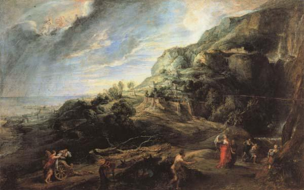 Peter Paul Rubens Ulysses on the Island of the Phaeacians oil painting image
