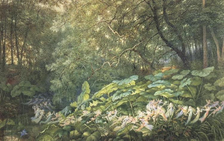 Richard Doyle Under the Dock Leaves:An Autumnal Evening's Dream oil painting image