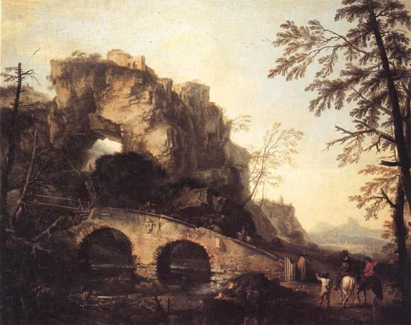 Salvator Rosa The Ruined Bridge Germany oil painting art