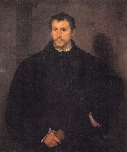 Titian Portrait of a Gentleman oil painting image