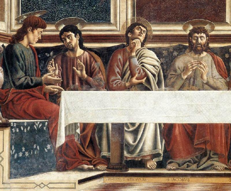 Andrea del Castagno Last Supper (detail) oil painting image