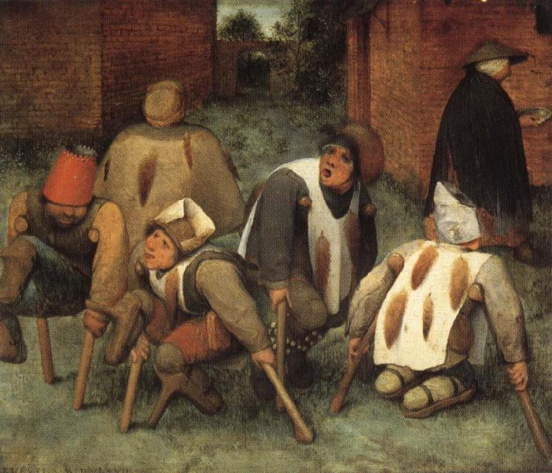 BRUEGEL, Pieter the Elder The Beggars oil painting picture