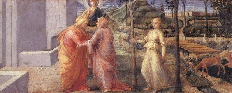 Fra Filippo Lippi The Meeting of Joachim and Anna at the Golden Gate oil painting image