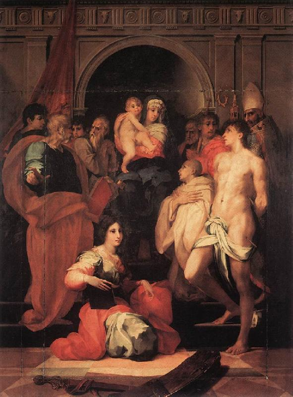 Rosso Fiorentino Madonna Enthroned and Ten Saints oil painting image