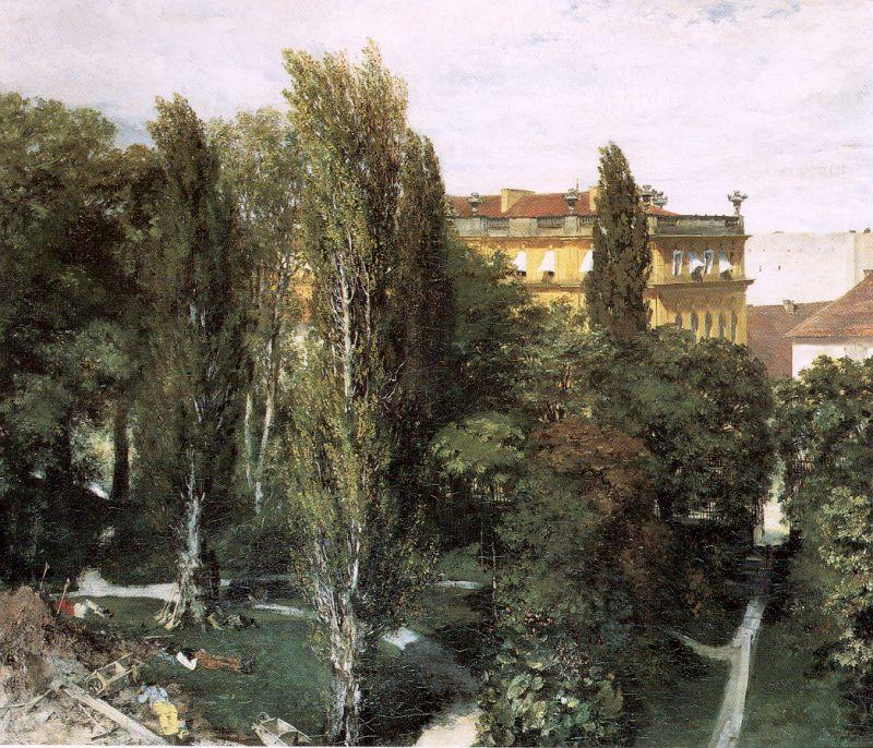Adolph von Menzel The Palace Garden of Prince Albert oil painting image