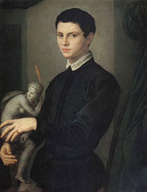 Agnolo Bronzino Portrait of a Sculptor (mk05) oil painting image