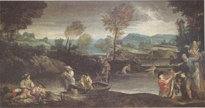 Annibale Carracci Fishing (mk05) oil painting image