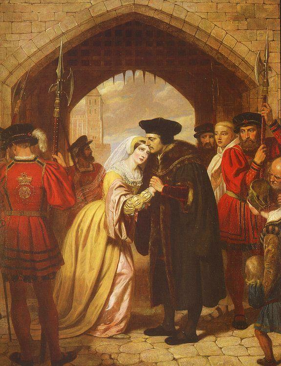 Edward Matthew Ward Sir Thomas More's Farewell to his Daughter oil painting image