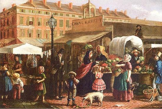 Mosler, Henry Canal Street Market oil painting image