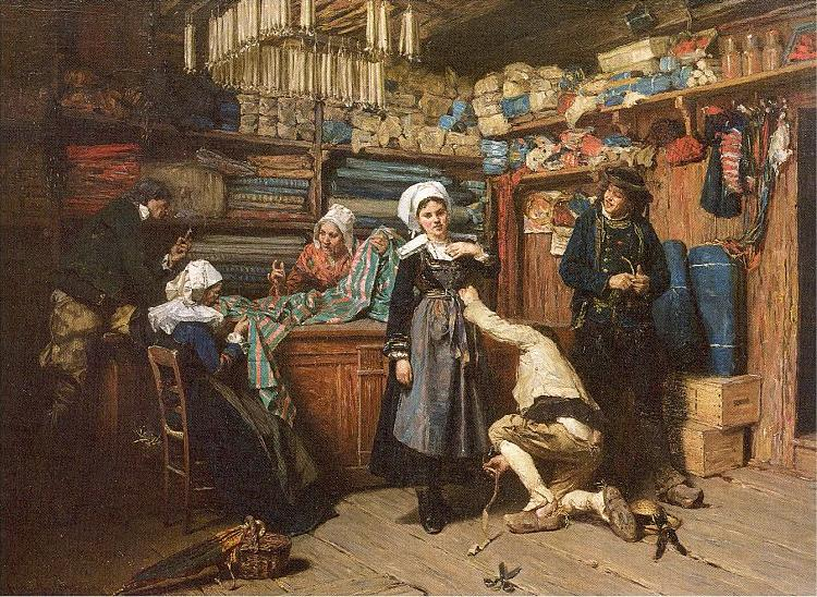 Mosler, Henry Buying the Wedding Trousseau oil painting image