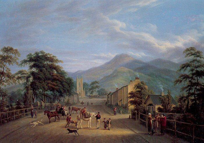 Mulvany, John George View of a Street in Carlingford oil painting image