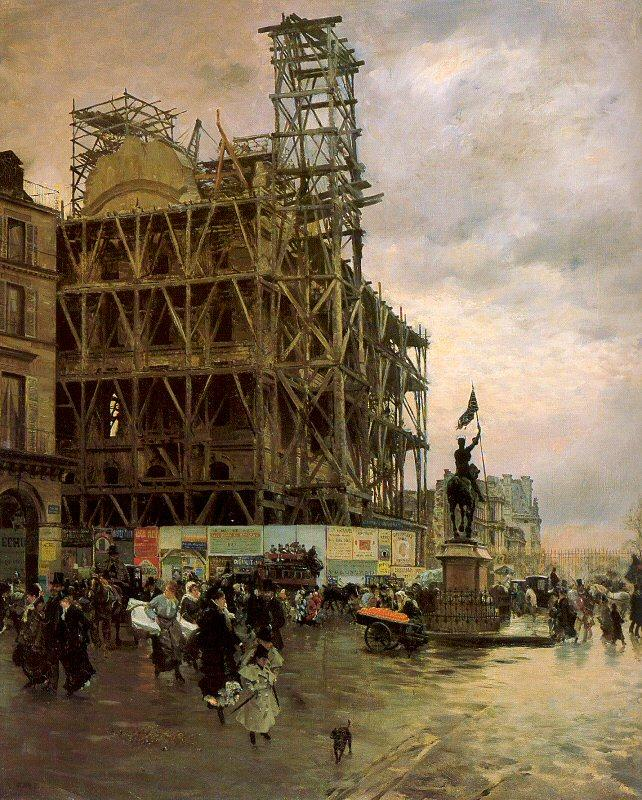 Nittis, Giuseppe de The Place des Pyramides oil painting image
