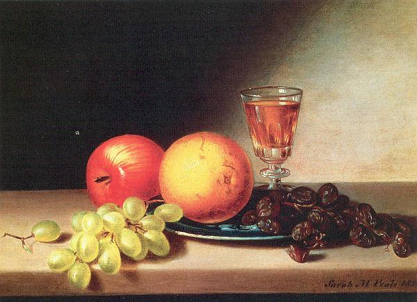 Peale, Sarah Miriam Fruit and Wine oil painting image