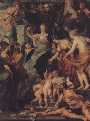 Peter Paul Rubens The Felicity of the Regency of Marie de'Medici (mk01) oil painting image