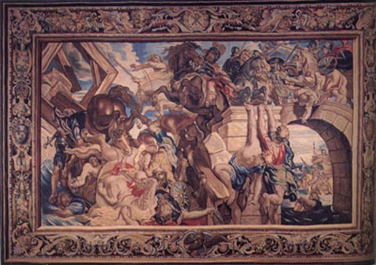 Peter Paul Rubens The Battle of the Milvian Bridge,from The Life of Constantine (mk01) oil painting image
