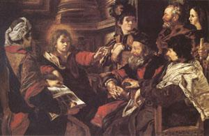 SERODINE, Giovanni Jesus among the Doctors (mk05) oil painting image