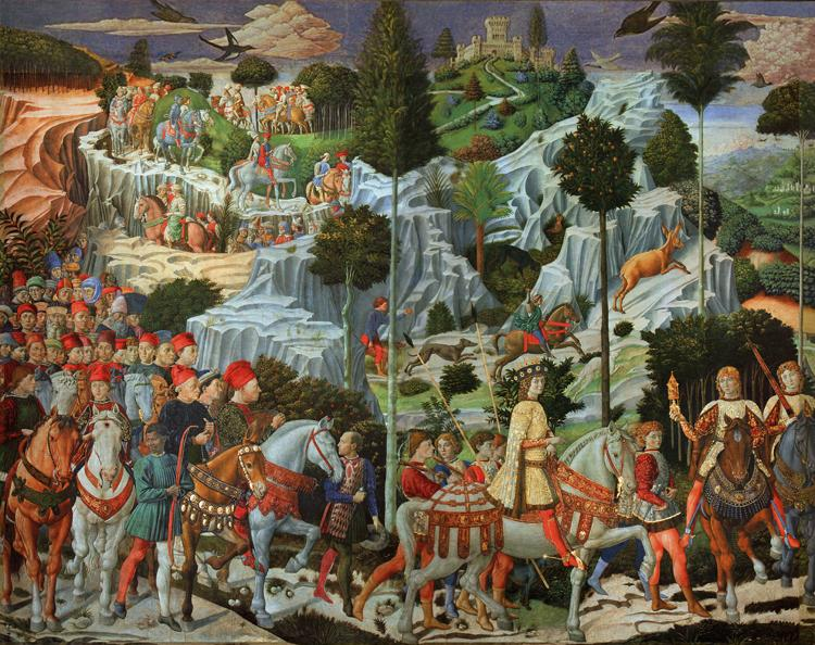 Benozzo Gozzoli Procession of the Magi (mk08) oil painting image