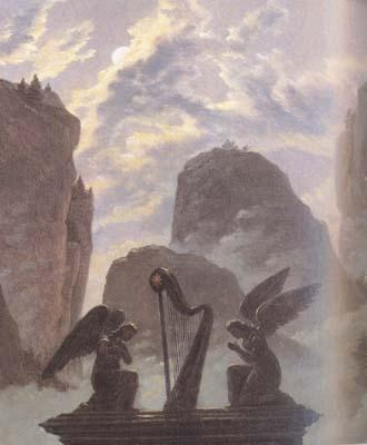 Carl Gustav Carus details Memorial Monument to Goethe (mk10) oil painting image