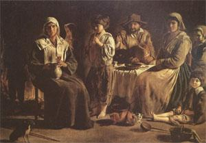 Louis Le Nain Peasant Family in an Interior (mk05) oil painting picture