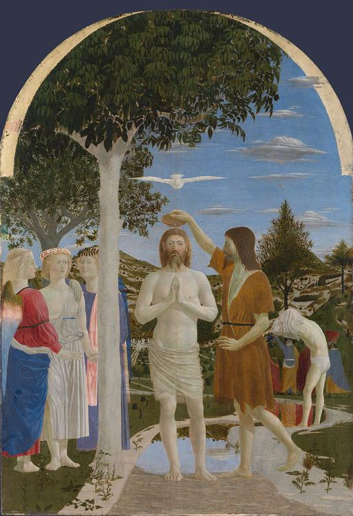 Piero della Francesca The Baptism of Christ (mk08) oil painting image