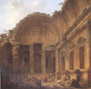 ROBERT, Hubert Interior of the Temple of Diana at Nimes (mk05) Germany oil painting art
