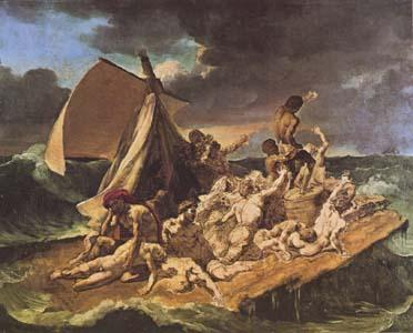 Theodore   Gericault The Raft of the Medusa (sketch) (mk09) oil painting image