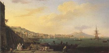 VERNET, Claude-Joseph View of Naples with Nt.Vesuvius (mk05) oil painting image