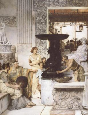 Alma-Tadema, Sir Lawrence The Sculpture Gallery (mk23) oil painting image
