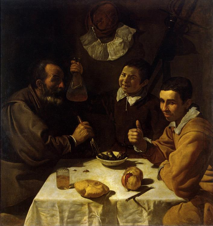 Diego Velazquez Three Men at Table (df01) oil painting image