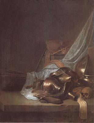 POORTER, Willem de Still Life with Weapons and Banners (mk14) oil painting image