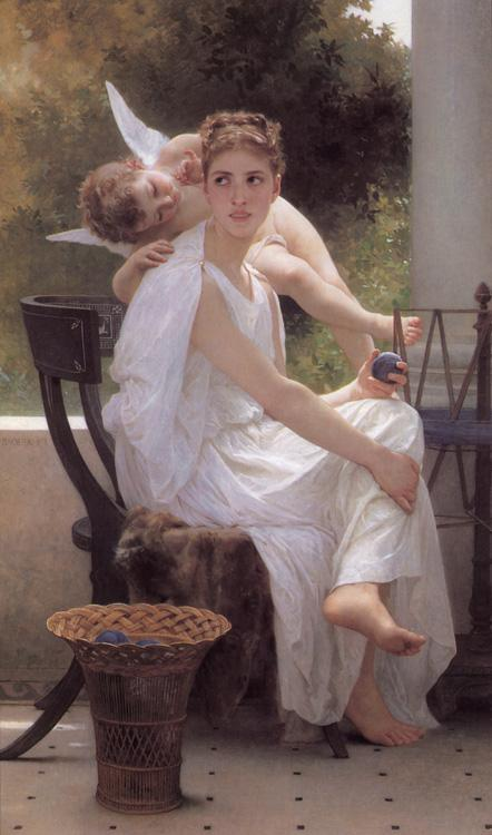 Adolphe William Bouguereau Work Interrupted (mk26) oil painting image