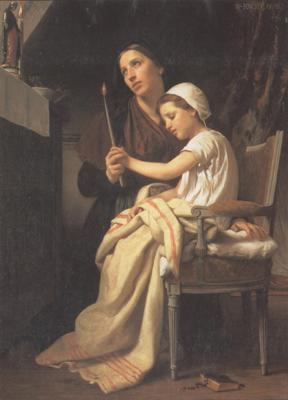 Adolphe William Bouguereau The Thank Offering (mk26) oil painting image