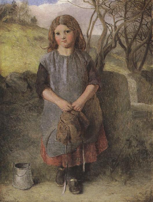 Alexander Davis cooper The Little Milkmaid (mk37) oil painting image
